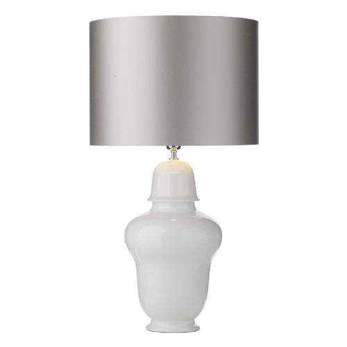 Vaughn Tall Lamp Small Gloss White Base Only VAU4102 (7-10 day Delivery)